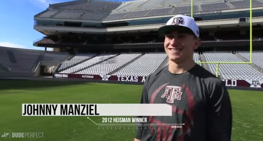 Johnny Football Shows Us How He Got His Nickname in New Dude Perfect Video