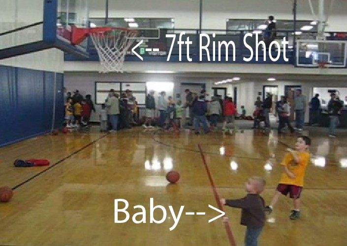Baby Basketball Trick Shot Video
