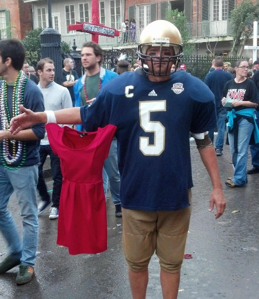 Early Halloween Costume Idea Showed Up On Bourbon Street