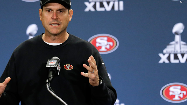 jim harbaugh superbowl loss