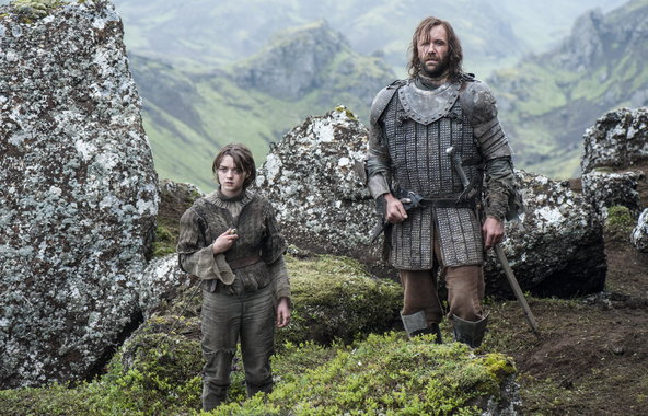 Game of Thrones, Maisie Williams, Rory McCann