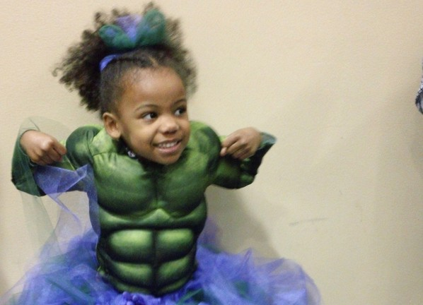 Little Girl Hulk Costume