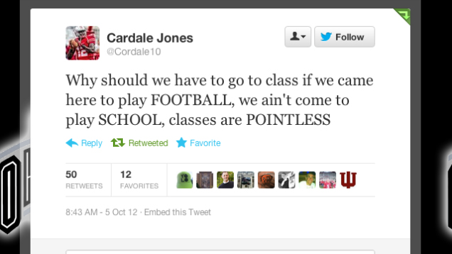 cardale jones football classes tweet