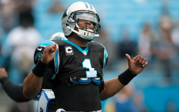 Dec 22, 2013; Charlotte, NC, USA; Carolina Panthers quarterback Cam Newton (1) stands on the field prior to the start of the game against the New Orleans Saints at Bank of America Stadium. Mandatory Credit: Jeremy Brevard-USA TODAY Sports