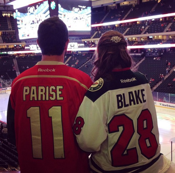 wedding-dress-minnesota-wild-hockey-game