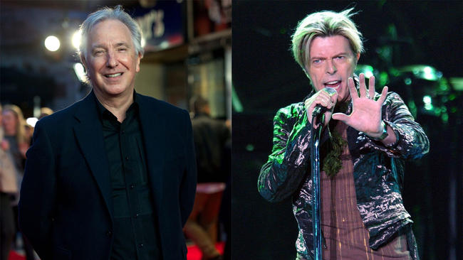 Giving a sad goodbye to David Bowie and Alan Rickman