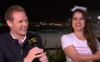 This bachelorette party interrupted a live Olympics Broadcast in Rio